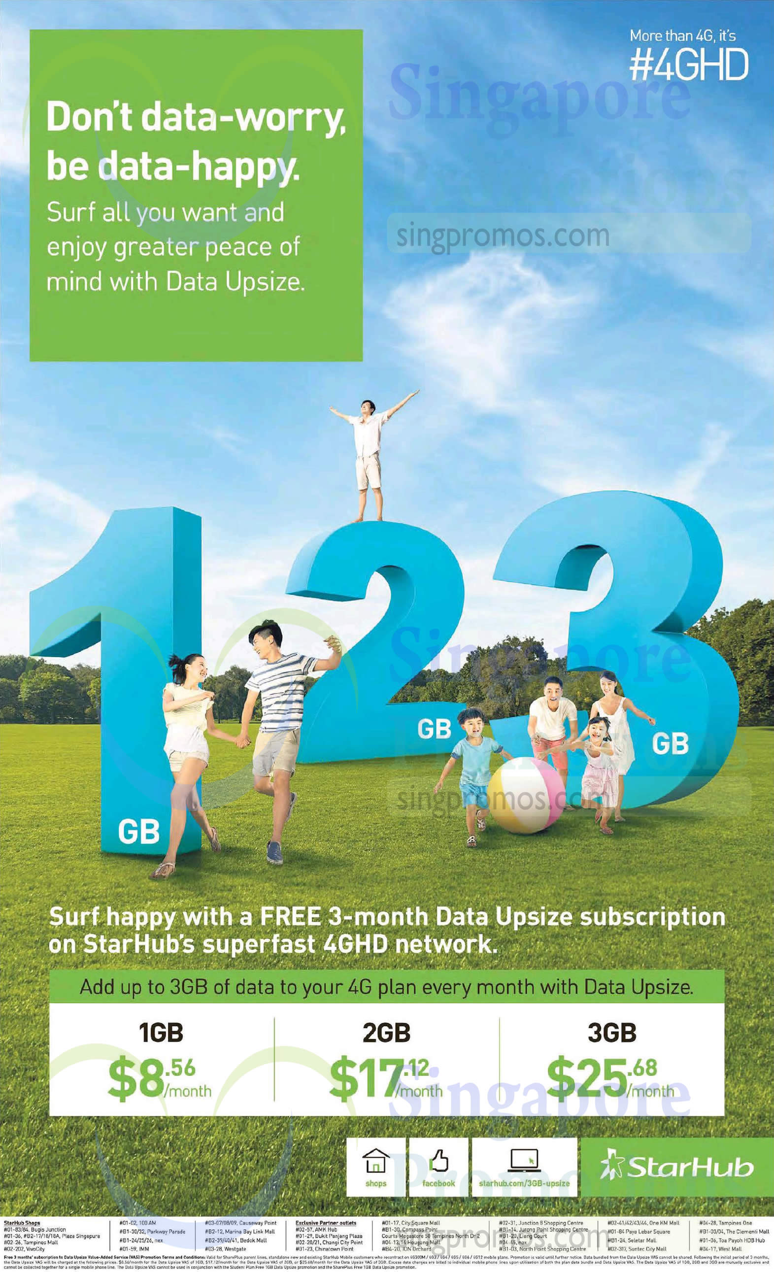 Data Upsize Up to 3GB