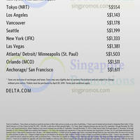 Read more about Delta Air Lines Promo Fares 2 - 30 Apr 2015