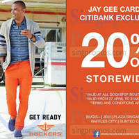 Dockers 20% Off Storewide For Citibank Cardmembers 27 Apr - 3 May 2015