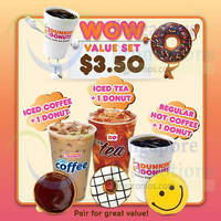 Read more about Dunkin Donuts Buy Wow Value Set & Get $1 Off Donut 24 - 30 Apr 2015