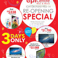 Read more about EpiCentre Re-Opening Special @ ION Orchard 17 - 19 Apr 2015