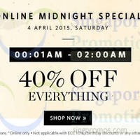 Read more about Esprit 40% Off Everything 2hr Midnight Online Sale (12am to 2am) 4 Apr 2015