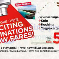 Air Asia From $40 (all-in) Promo Fares 27 Apr - 3 May 2015