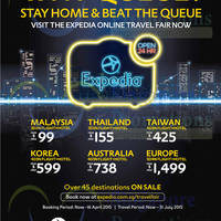 Read more about Expedia 3D2N Flights + Hotels From $99 Online Travel Fair 3 - 16 Apr 2015