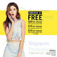 Read more about Forever 21 Spend $10 & Get Free Voucher 20 Apr - 6 May 2015