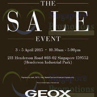 Read more about Geox Breathes Sale 3 - 5 Apr 2015