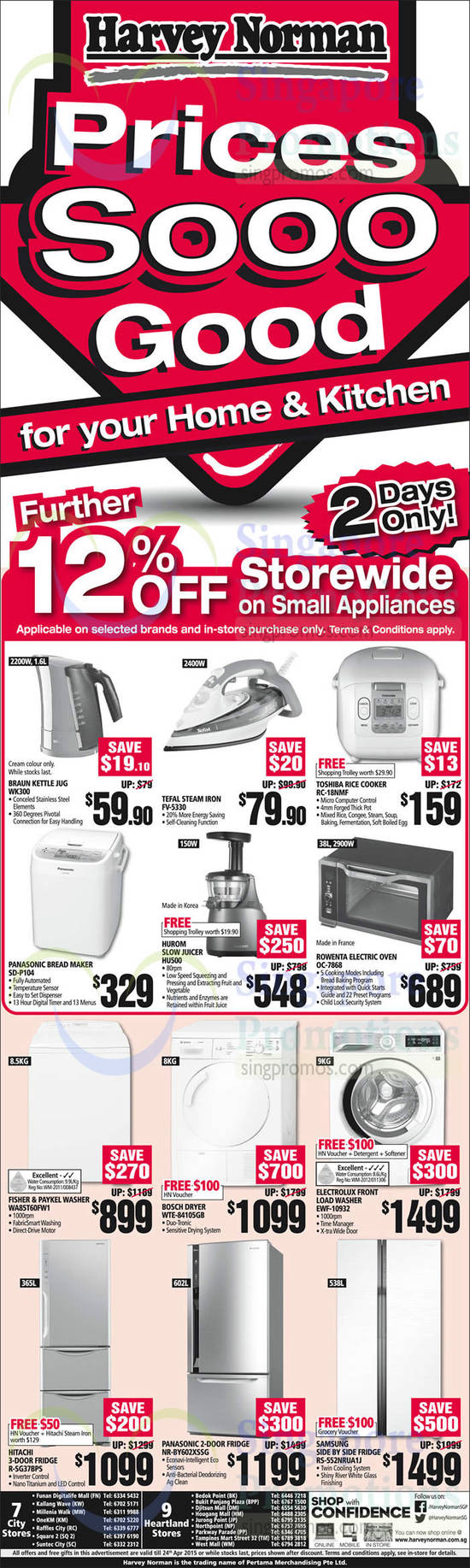 Hurom Slow Juicer Harvey Norman : Harvey Norman Electronics, IT, Appliances & Other Offers 18 24 Apr 2015