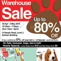 Read more about Hush Puppies Warehouse SALE Up To 80% Off @ Sulisam Building 30 Apr - 3 May 2015