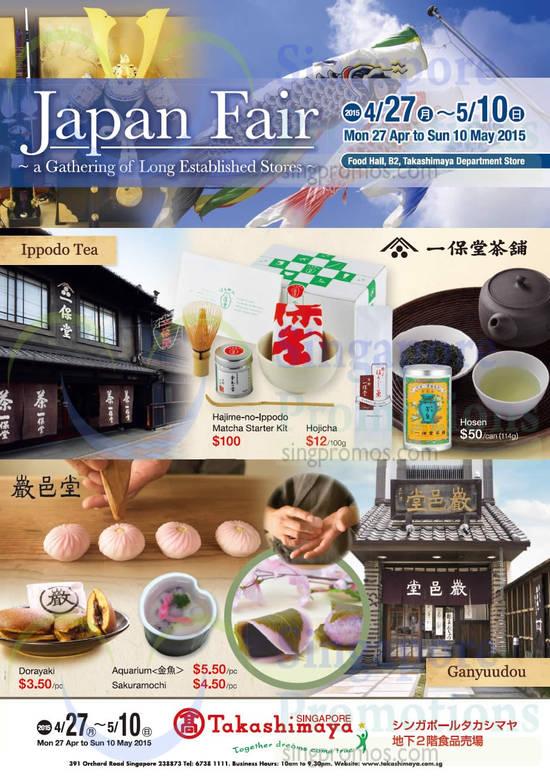 Japan Fair, Event Details, Matcha Starter Kit, Hojicha, Hosen, Dorayaki, Aquarium, Sakuramochi
