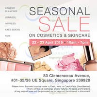 Read more about Kanebo Cosmetics & Skincare SALE @ UE Square 22 - 23 Apr 2015