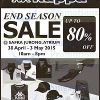 Read more about Kappa End Season Sale @ Safra Jurong 30 Apr - 3 May 2015