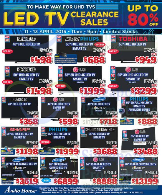 LG 55LA9650 TV, LG 65LA9650 TV, LG 42LN5710 TV, Samsung UA46F5300 TV, Samsung UA55HU7200 TV, Samsung UA65JS9000 TV, LG 84LM9600 TV, Samsung UA78HU9000 TV