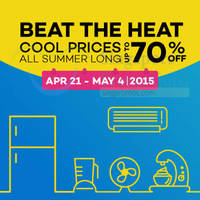Lazada Up To 70% Off Beat the Heat Appliances Promo 25 Apr - 4 May 2015