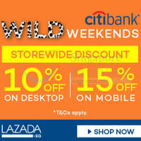 Lazada 10% to 15% Off Storewide With Citibank Cards (NO Min Spend) 23 - 24 May 2015