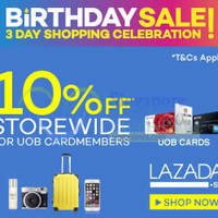 Read more about Lazada 10% OFF Storewide (NO Min Spend) Promo For UOB Cardmembers 8 - 9 Apr 2015
