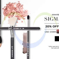 Luxola 20% OFF Sigma Beauty (NO Min Spend) 48hr Coupon Code 27 - 28 Apr 2015