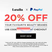 Read more about Luxola 20% OFF Storewide (NO Min Spend) Coupon Code 3 Apr - 30 Jun 2015