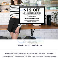 Read more about MDS Collections Spend $100 & Get $15 Off Storewide 3 Apr 2015