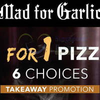 Read more about Mad for Garlic 1 for 1 Pizzas Takeaway Coupon @ Suntec City Mall 14 Apr 2015