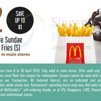 Read more about McDonald's Singapore Dine-In Discount Coupons 6 - 30 Apr 2015