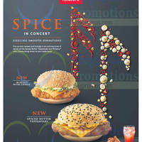 McDonald's NEW McSpicy With Cheese & Spiced Butter Teppanyaki Burgers 27 Apr 2015