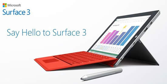 Microsoft Surface 3 1 Apr 2015