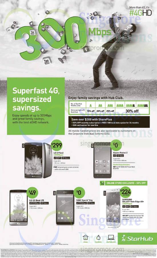 Mobile Phones LG G Flex2, LG G3 Beat, Sony Xperia E, Xiaomi Redmi 2, Samsung Galaxy Note Edge