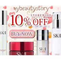 My Beauty Story 10% OFF SK-II, Clarins & More (NO Min Spend) 1-Day Coupon Code 2 Apr 2015