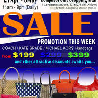 Read more about MyBagEmpire Branded Handbags & Accessories Sale @ Compass Point 27 Apr - 3 May 2015