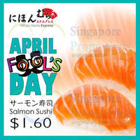 Nihon Mura Express $1.60 4pcs Salmon Sushi 1-Day Promo 1 Apr 2015