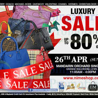 Nimeshop Branded Handbags Sale @ Mandarin Orchard 26 Apr 2015