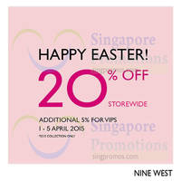 Read more about Nine West 20% Off Storewide 1 - 5 Apr 2015