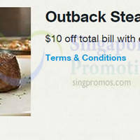Read more about Outback Steakhouse $10 Off Every $50 Spend For Singtel Customers 13 Apr - 31 Aug 2015