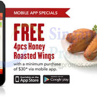 Read more about Pizza Hut Free 4pcs Honey Roasted Wings Mobile App Special 16 Apr 2015
