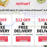 Redmart $5 to $30 OFF Storewide & FREE Delivery Coupon Codes 21 - 30 Apr 2015