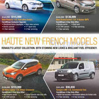 Renault Fluence, Grand Scenic, Captur & Kangoo Offers 25 Apr 2015