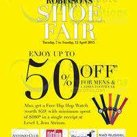 Read more about Robinsons Up To 50% Off Shoe Fair @ Jem 7 - 12 Apr 2015