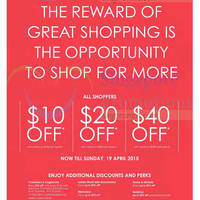 Read more about Robinsons $10 to $40 Off Promotions & More 16 - 19 Apr 2015
