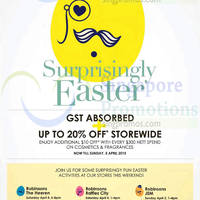 Read more about Robinsons GST Absorbed Easter Promotion 2 - 5 Apr 2015