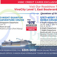 Royal Caribbean Roadshow @ VivoCity 21 - 26 Apr 2015