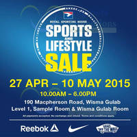 Read more about Royal Sporting House SALE @ Wisma Gulab 27 Apr - 10 May 2015