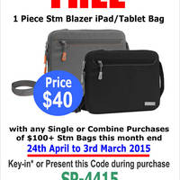 Read more about STM Bags Online & In-Store Free Gift Promotion 24 Apr - 3 May 2015