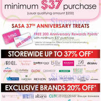 Read more about Sasa 37th Anniversary Special Offers 15 - 19 Apr 2015