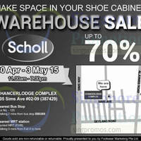 Read more about Scholl Warehouse Sale 30 Apr - 3 May 2015
