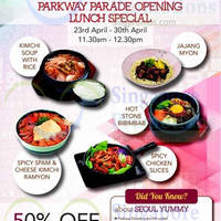 Read more about Seoul Yummy 50% OFF Lunch Opening Special @ Parkway Parade 23 - 30 Apr 2015