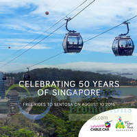 Singapore Cable Car Sentosa Free Rides 1-Day Promotion 10 Aug 2015