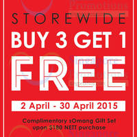 Read more about Somang Buy 3 Get 1 Free Promo 2 - 30 Apr 2015