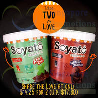 Soyato Ice Cream Promotion @ NTUC Fairprice 1 - 30 Apr 2015
