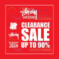 Stussy Clearance Sale 28 Apr - 30 May 2015
