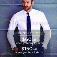 Read more about T.M.Lewin Buy 2 Shirts & Get $60 Off 24 Mar - 30 Apr 2015